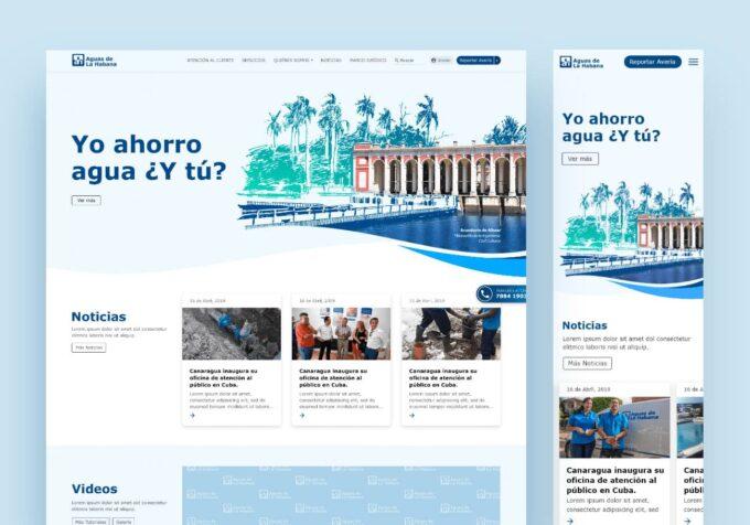 Sitio Web Aguas de la Habana