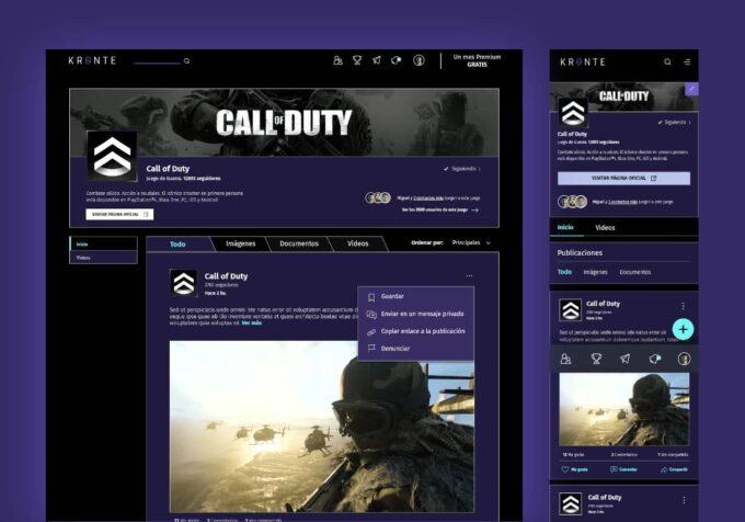 Portal web para Gamers